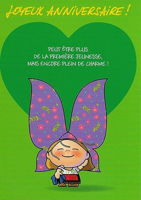 Alsace Cadeau Carte De Voeux Lovely Elsa Anniversaire Coeur Vert