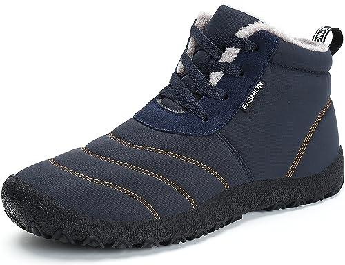 huge discount d6e4d eec61 SAGUARO® Herren Damen Winterschuhe Warm Gefüttert Winter Stiefel Kurz  Schnür Boots Schneestiefel Outdoor Freizeit Schuhe