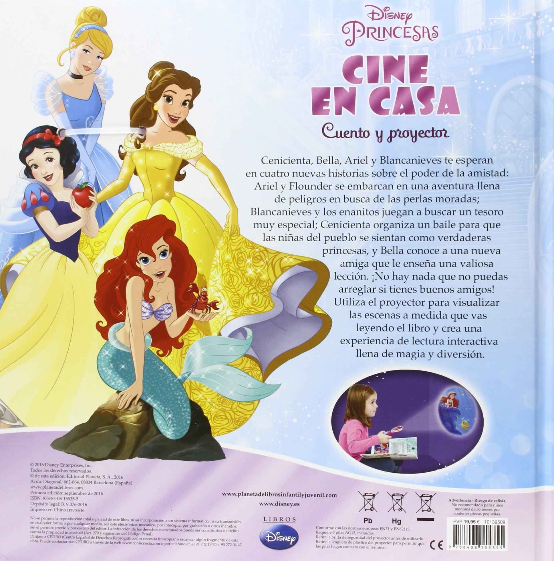 Princesas. Cine en casa: Cuento y proyector Disney. Princesas ...