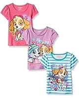 Nickelodeon Paw Patrol Girls' 3 Pack T-Shirts