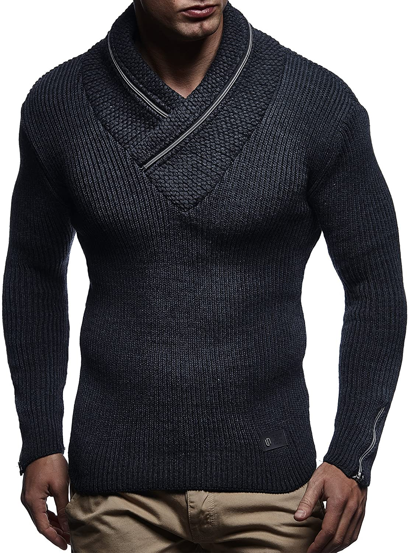 LEIF NELSON Men's Knitted Pullover 4170 LN4170