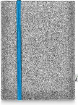 Estuche de Fieltro para Samsung Galaxy Tab A 10.1 (2019) | Bolsa de Fieltro de Lana Merino | Modelo Leon en Gris Claro/Azul | Bolsa Protectora para tabletas Made in Germany: Amazon.es: Electrónica