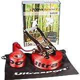 Ultrasport Kit de Slacklining 15M avec Protection de Crémaillère