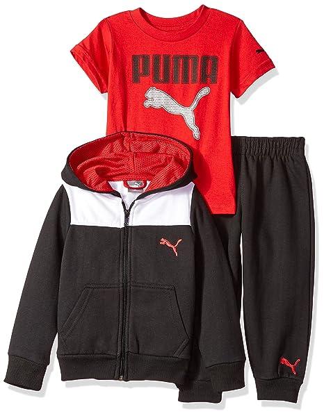 652722aef Amazon.com  PUMA Boys  Three Piece Hoodie and Tee Set  Clothing