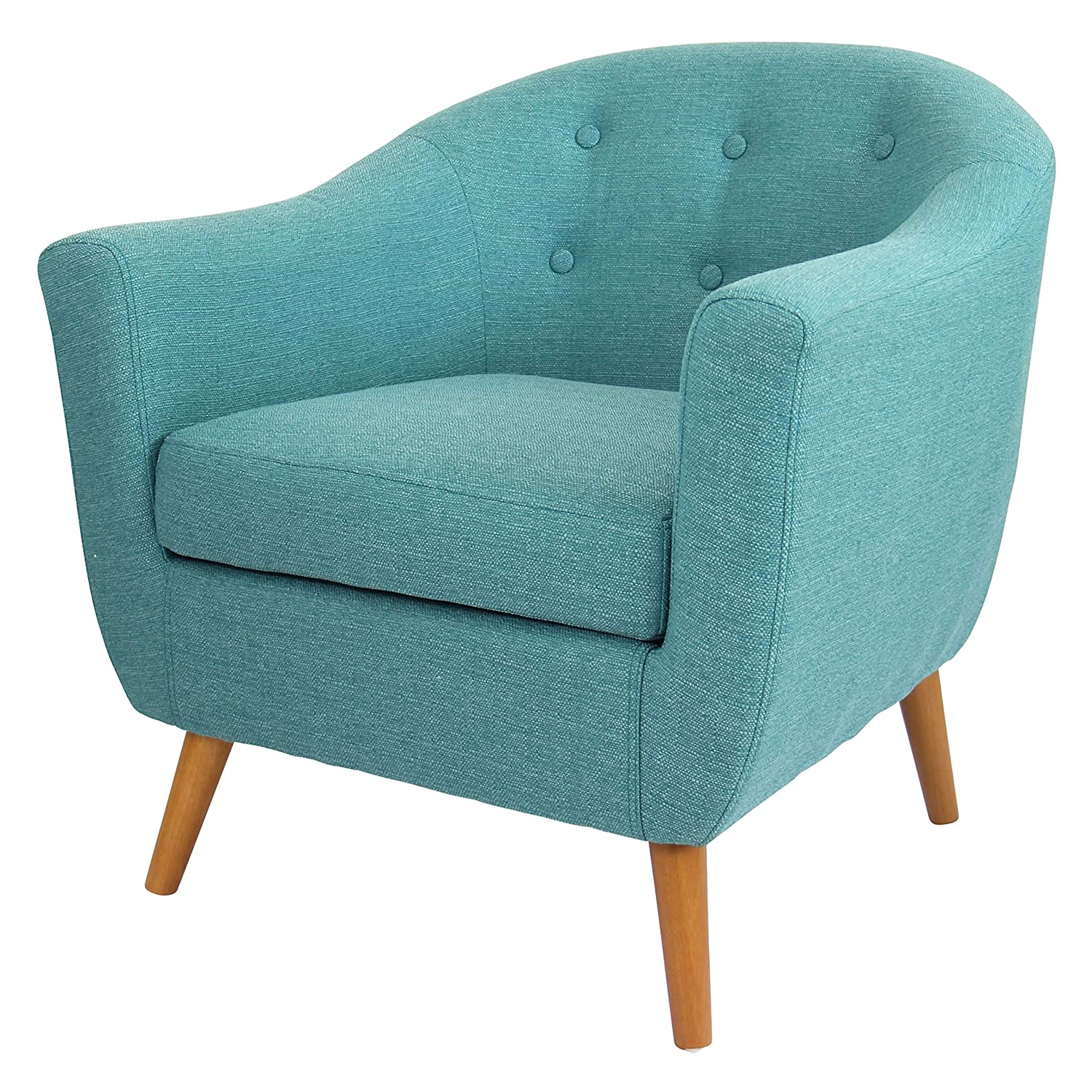 Amazon.com: Mid Century Modern Style Teal Button-tufted Upholstered ...