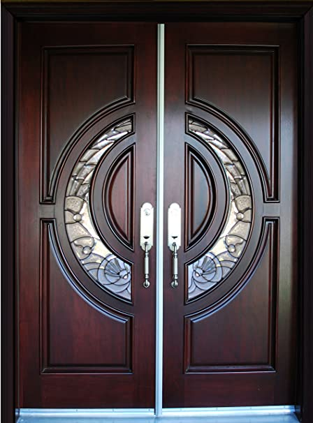Exterior Front Entry Double House Wood Door M580e Dbl 30x96 Ready