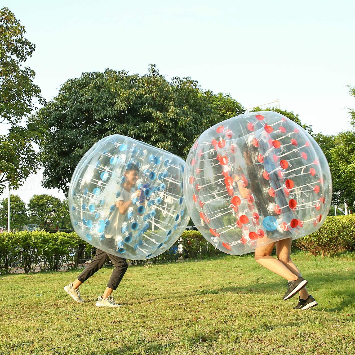 1.5m Ludosport Inflatable Bumper Bubble Balls Soccer Ball Dia Giant Human Hamster Knocker Ball 5 FT Body Zorb Ball for Adults /& Teens Outdoor Team Gaming Play