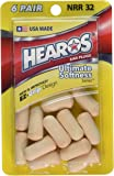 Hearos Ear Plugs Ultimate Softness Seriesヒーローズ イヤープラグ アルティメット ソフトネス シリーズ 柔らかい耳栓 6ペア [並行輸入品]