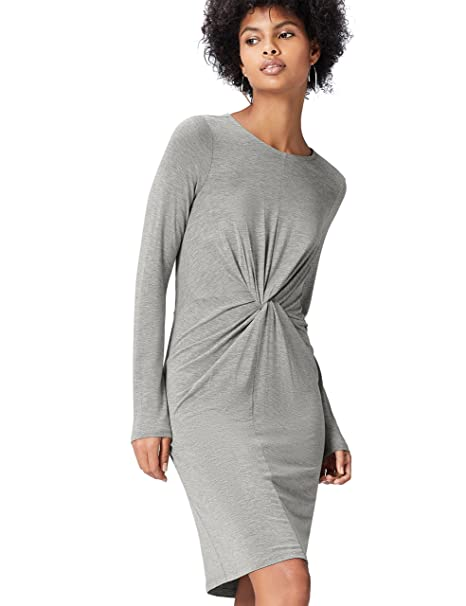 1465de52d313 FIND Vestito con Nodo Centrale Donna  Amazon.it  Abbigliamento