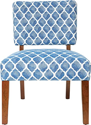 OSP Home Furnishings Warren Two Table and Chair Set, Harbor Blue Coffee