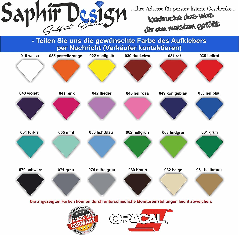dise/ño de Latido de Corazones Adhesivo para Coche A155//18 x 6 cm l/ámina de Alto Rendimiento en Color Blanco Saphir Design
