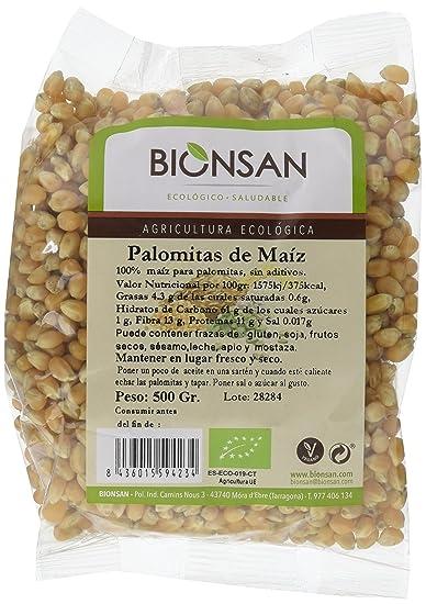 Bionsan Maíz para Palomitas - 4 Paquetes de 500 gr - Total: 2000 gr