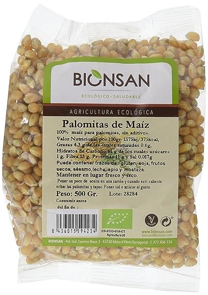 Bionsan Maíz para Palomitas | 4 Paquetes de 500 g (2 kg)