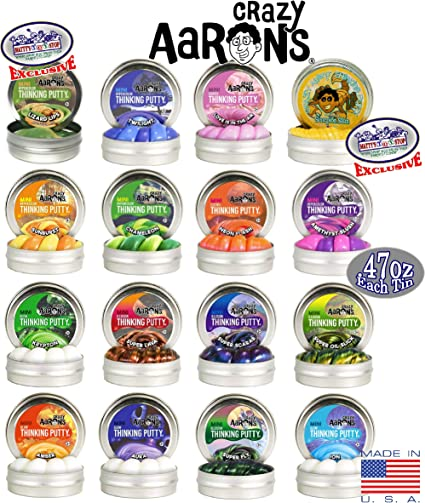 Crazy Aaron Thinking Putty Mini Glow Hypercolor Oil Slick