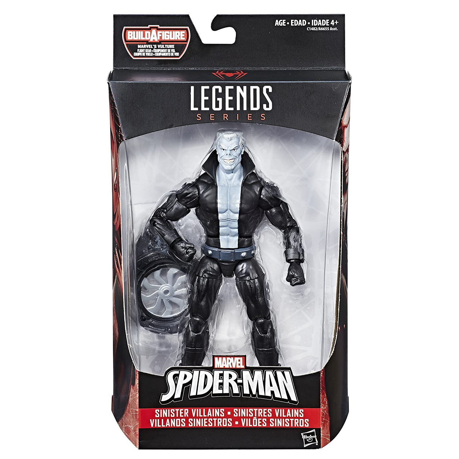 Build Vultures Flight Gear 6 Inches Hasbro A6655 Marvel Legends Spider-Man Tombstone Action Figure