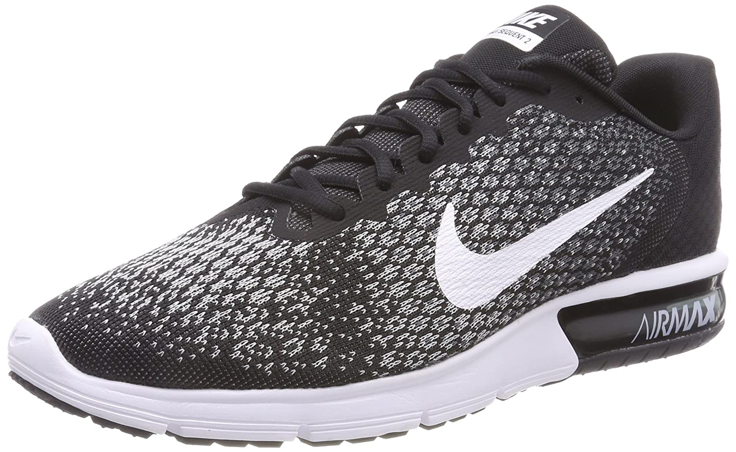 Nike Herren Air Max Sequent 2 Gymnastikschuhe  45 EU|Schwarz (Black/White-dark Grey-wolf Grey)