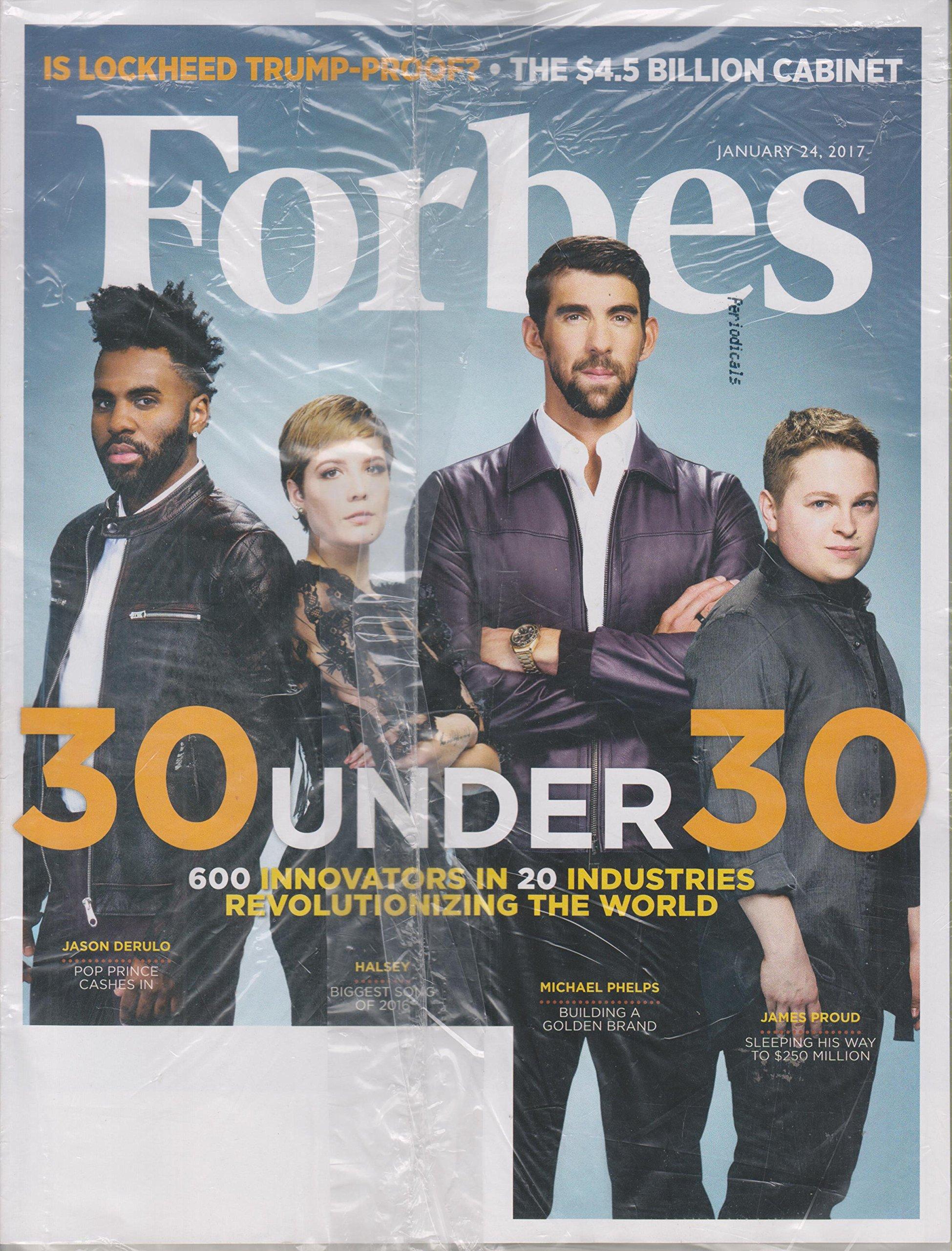 Forbes January 24, 2017 30 Under 30 Jason Derulo, Halsey