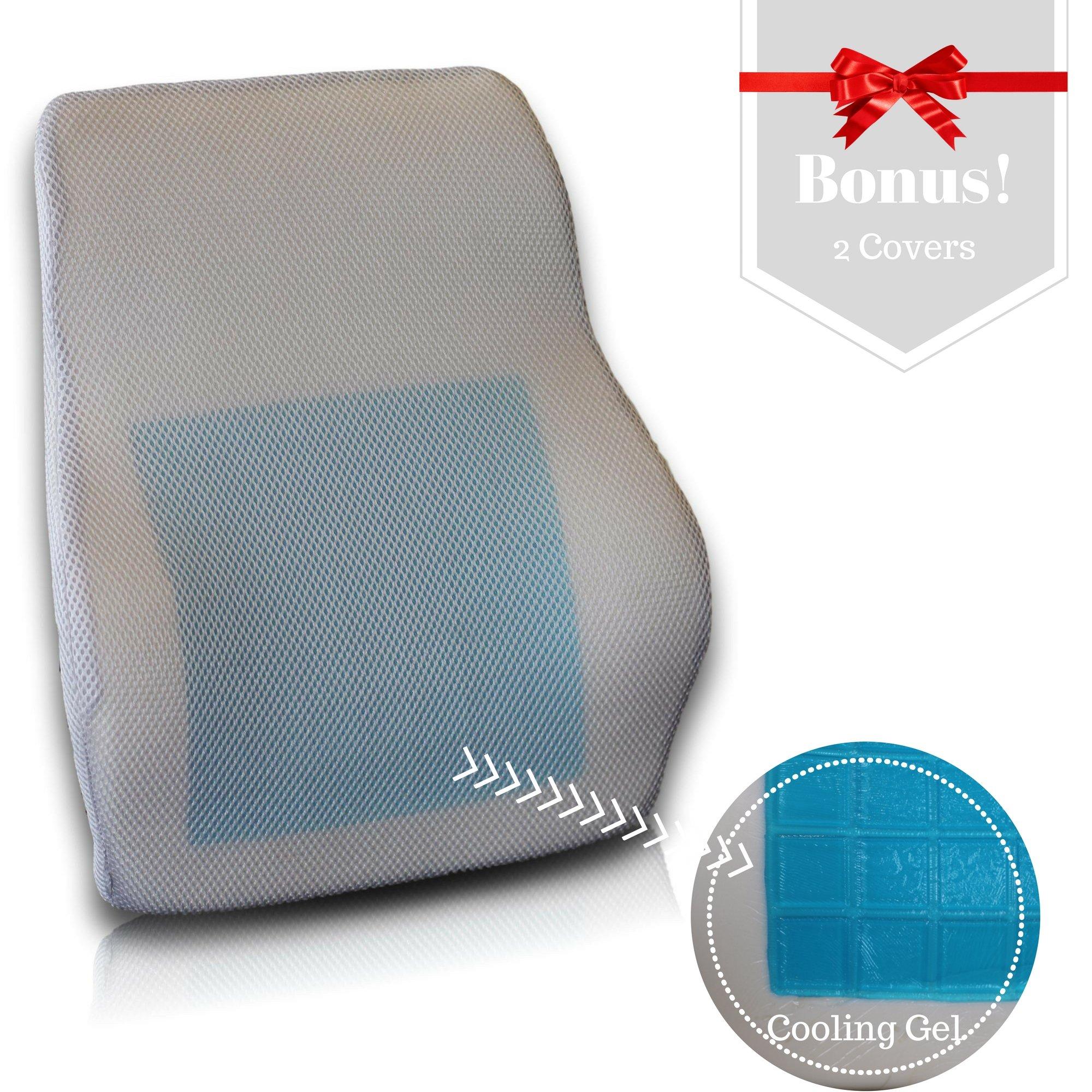 AirGo Products Cooling Gel Memory Foam Lumbar Cushion
