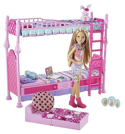 Amazon Com Barbie Sisters Sleeptime Bedroom And Stacie Doll Set