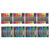 AmazonBasics Crayons - 24 Assorted Colors, 4-Pack
