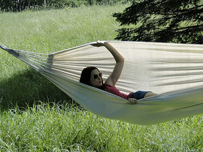 Hammock Sky Brazilian Double Hammock Two Person Bed for Backyard, Porch, Outdoor and Indoor Use