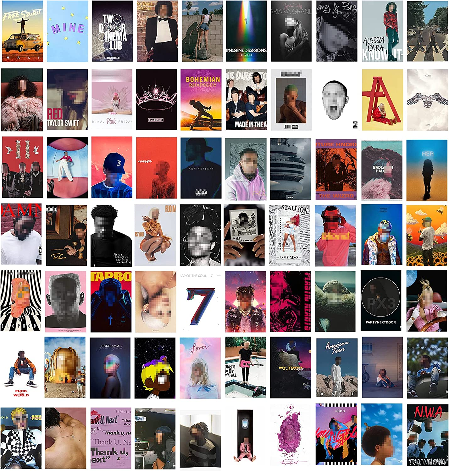Adzt's 70PCS Album Cover Aesthetic Pictures Wall Collage Kit, Album Style Photo Collection Collage VSCO Bedroom Dorm Decor for Girl and Boy Teens, Trendy Wall Prints Kit, Small Poster for Room Bedroom Aesthetic