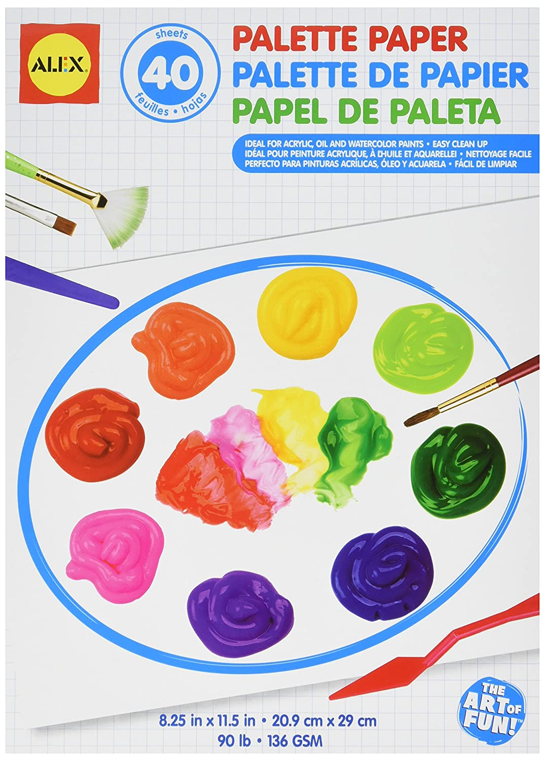 ALEX Toys Artist Studio Palette Paper Pad 40 Glossy Sheets 273W