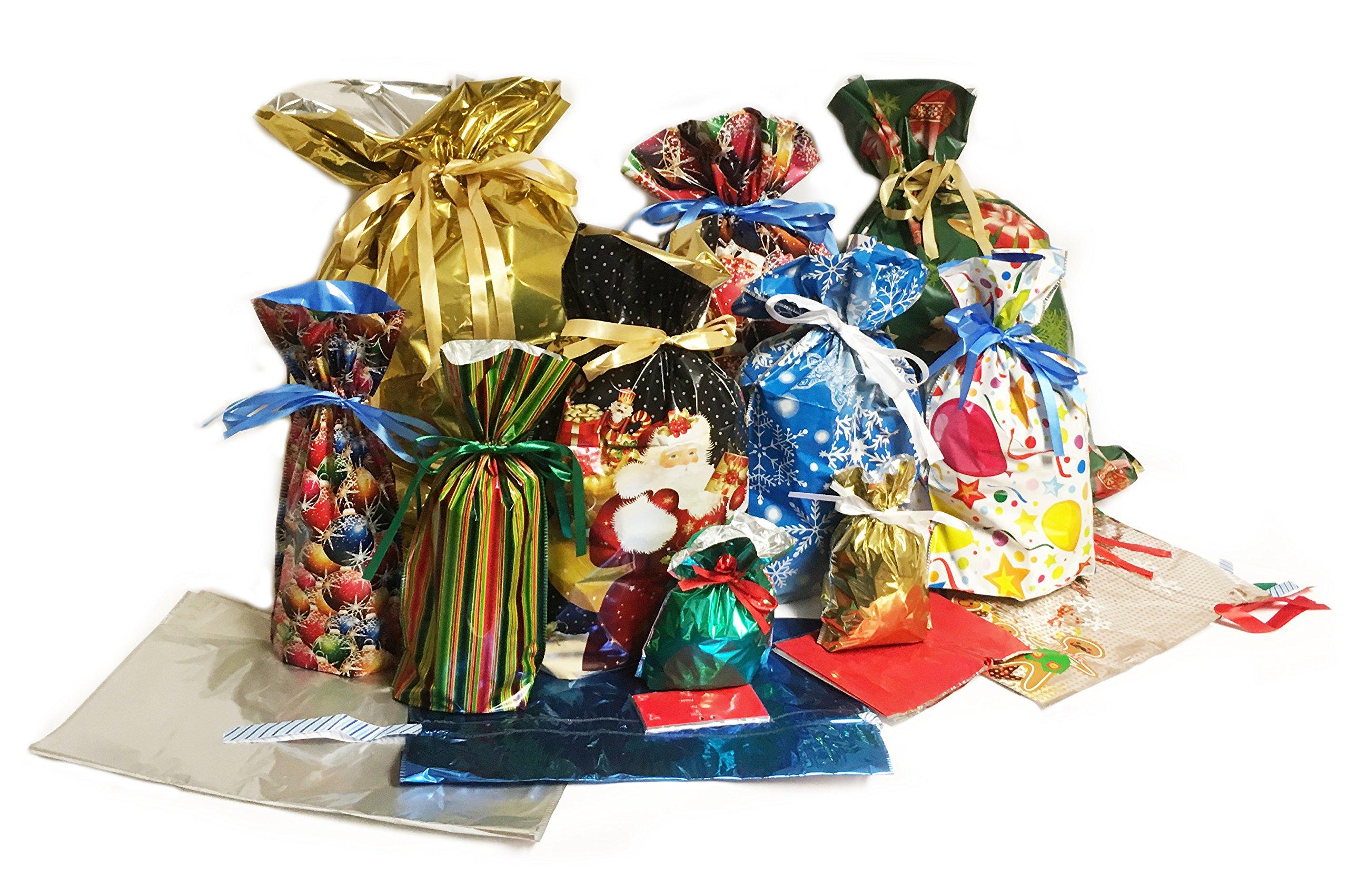 New Gift Mate 62-Piece Drawstring Gift Bag Set