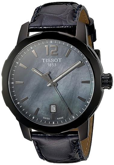 Tissot Reloj Analógico para Mujer de Cuarzo con Correa en Cuero T095.410.36.127.00