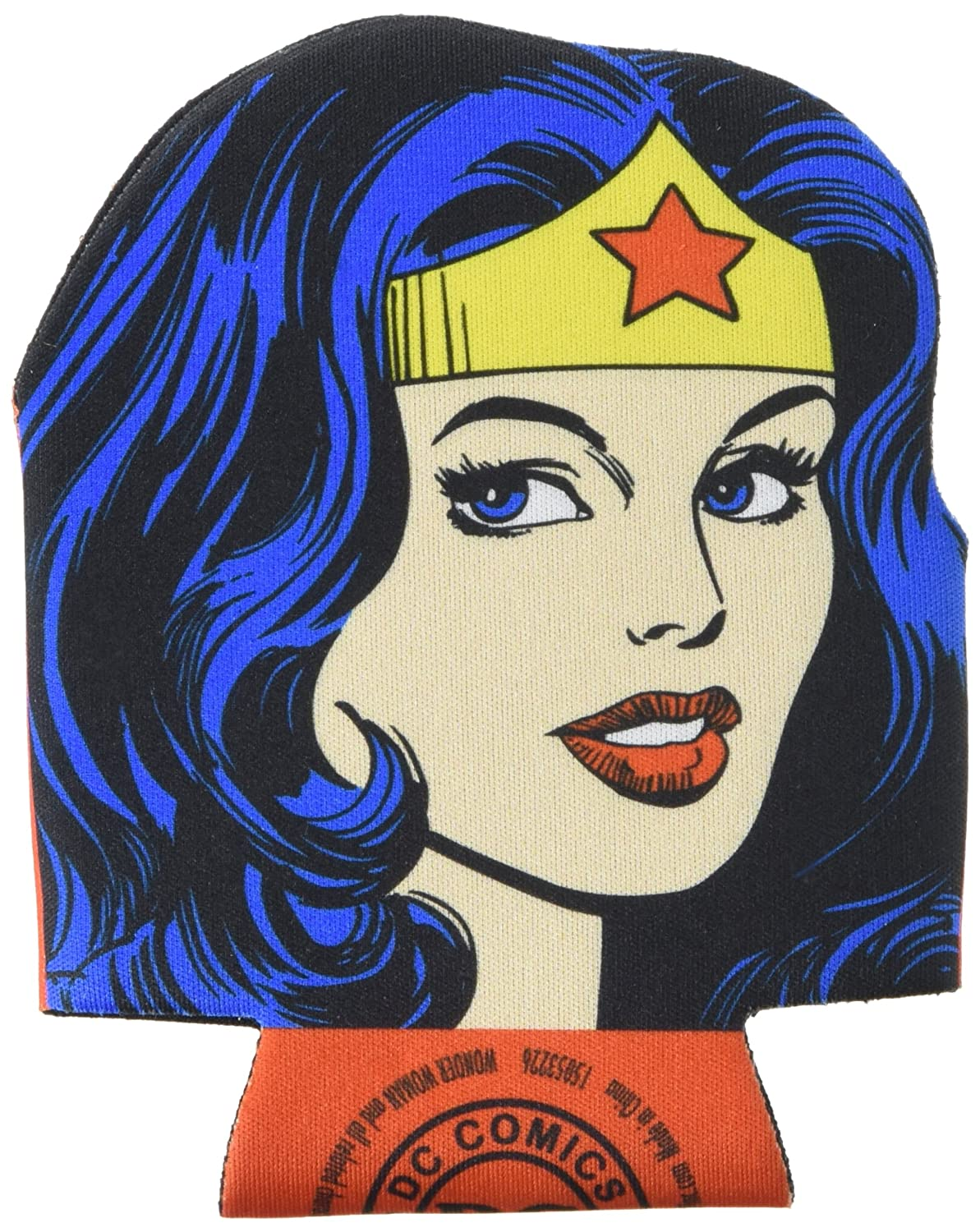 ICUP DC Wonder Woman Diecut Face Huggie Koozie with Card, Clear