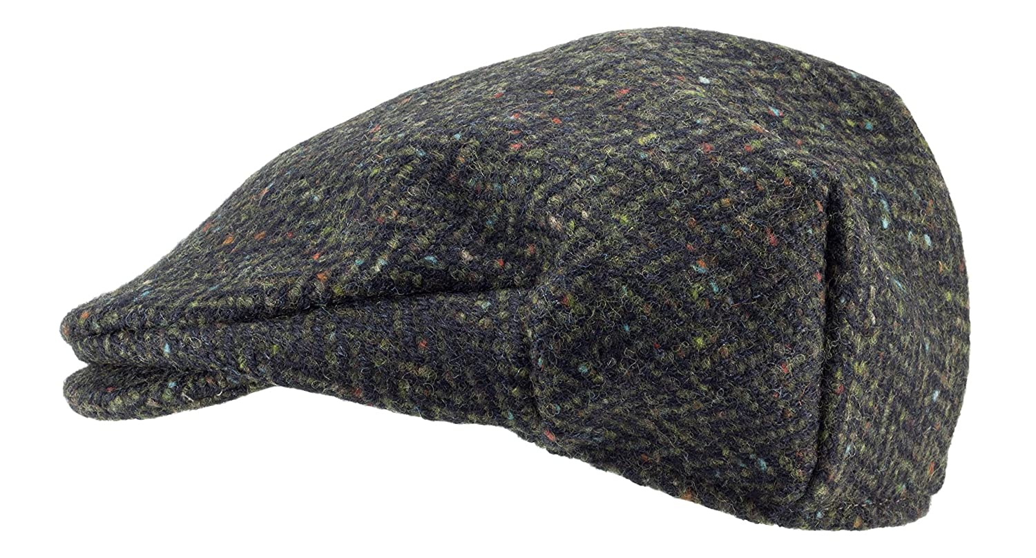 100% Handmade Handwoven Tweed.Irish Flat Cap.Green Herringbone.made by  Hanna Hats at Amazon Men s Clothing store  23f32cf1ae3d