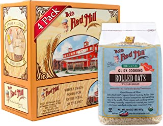 product image for Bob's Red Mill Organic Quick Cooking Rolled Oats Oatmeal, 32-ounce (Pack of 4)