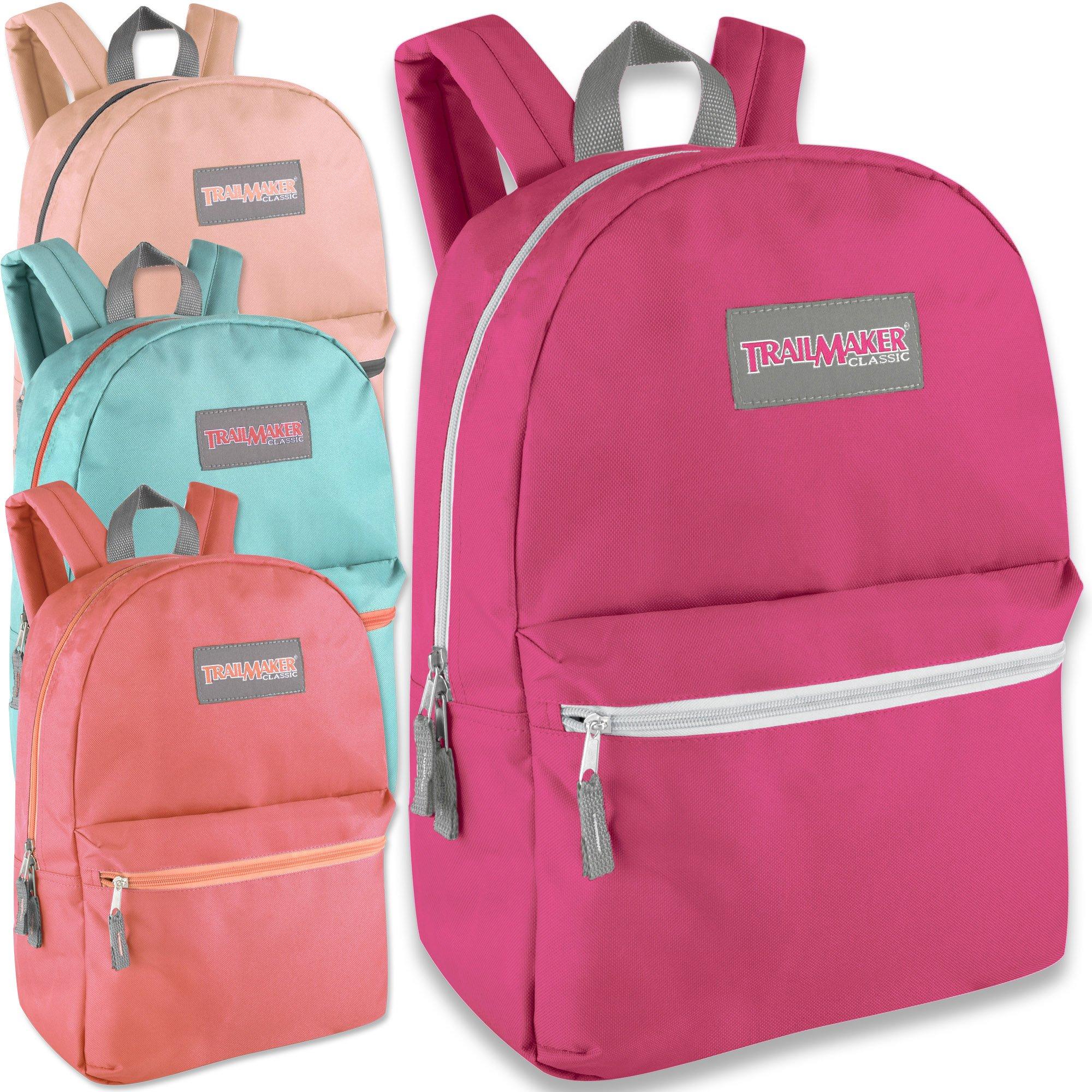 Wholesale Trailmaker Deluxe 17 Inch Backpack - Girls Case Pack 24