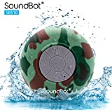 SoundBot® SB510 HD Water Resistant Bluetooth 3.0 Shower Speaker, Handsfree Portable Speakerphone with Built-in Mic, 6hrs of playtime, Control Buttons and Dedicated Suction Cup for Showers, Bathroom, Pool, Boat, Car, Beach, & Outdoor Use