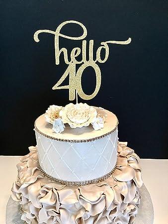 Amazon.com: Funlaugh - Decoración para tarta de 40 años ...