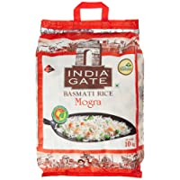 India Gate Basmati Rice Bag, Mogra, 10kg(Broken Basmati Grains)
