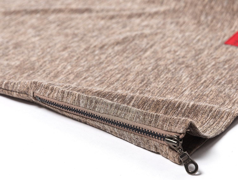 Brown -Unisex Parker Side Zip Short Sleeve Tee