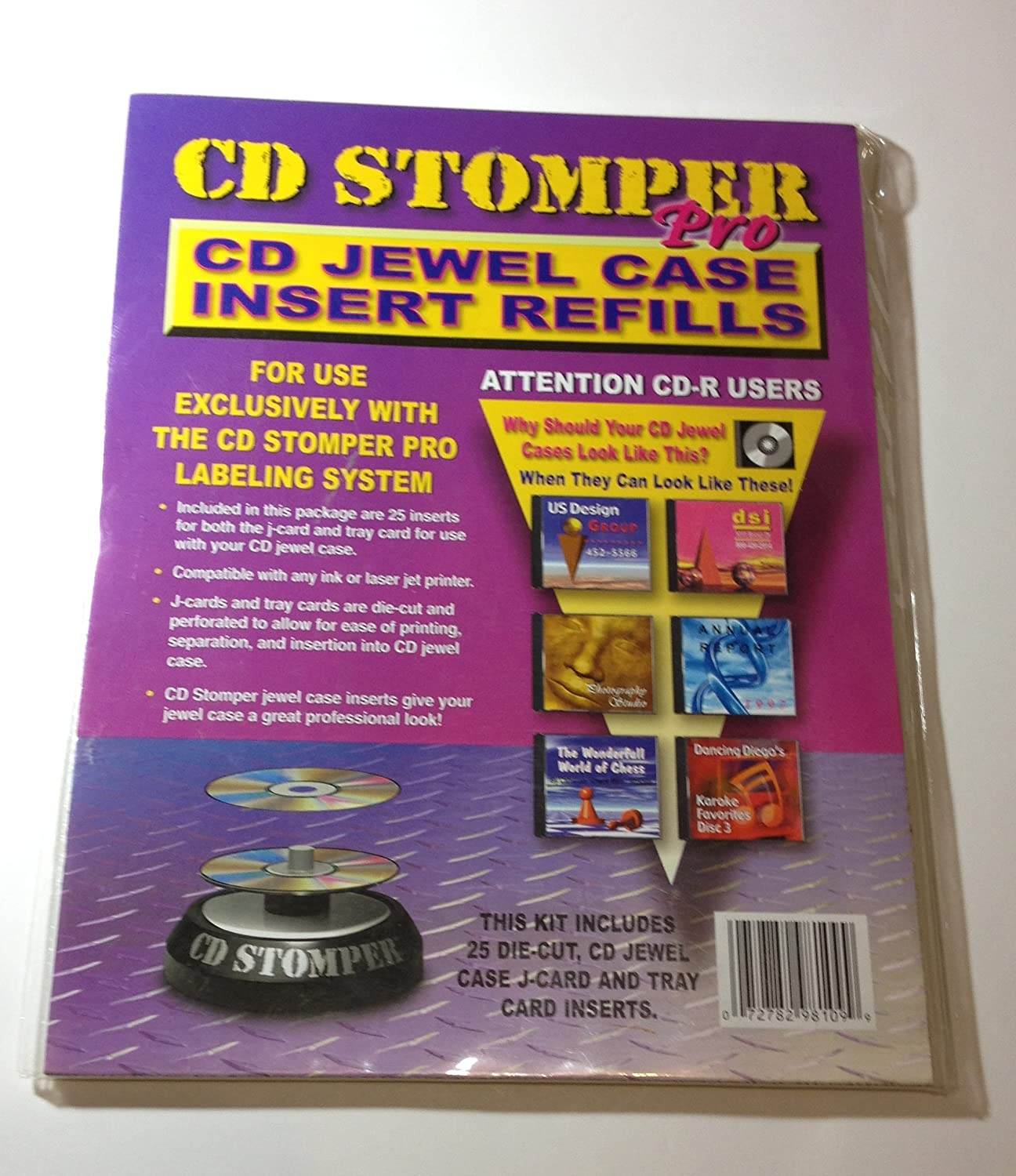 amazon com stomp inc cd stomper pro cd jewel case inserts refill