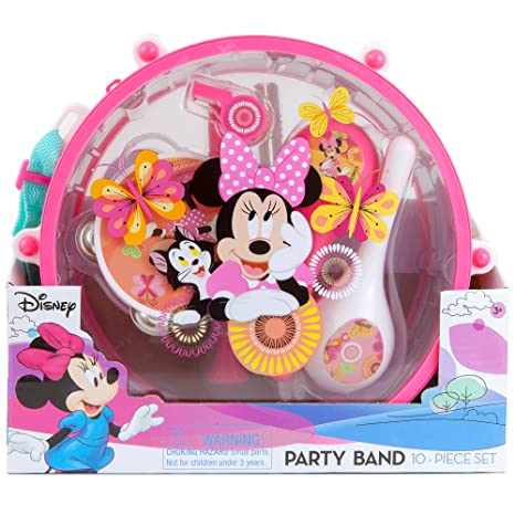 4b66a7e9c Disney Minnie Mouse Clubhouse Party Band 10 piece Set | 1 Drum 1 Whistle 1  Flute