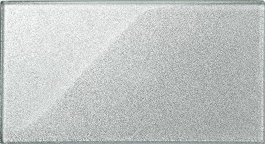 Vetro tile brick wall formato argento glitter piastrella è di x