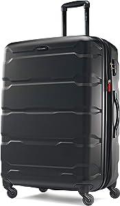 Samsonite Omni PC Hardside Expandable Luggage with Spinner Wheels, Black