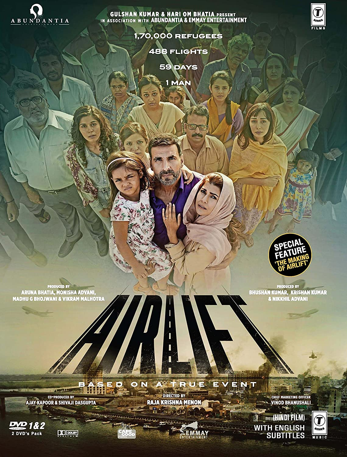 Amazon.com: Airlift - 2016 Hindi Movie DVD / 2-Disc Special ...