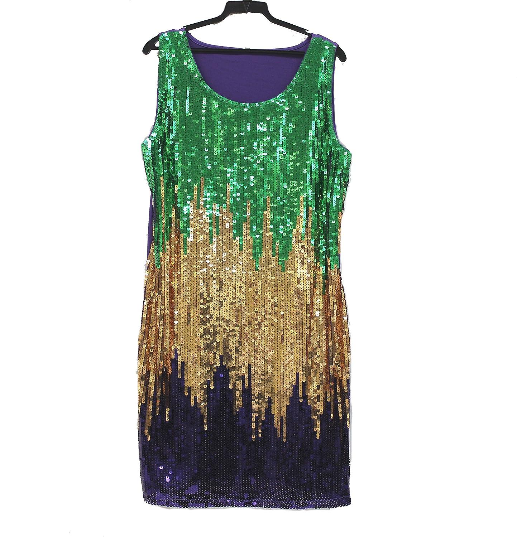 Amazon.com: Mardi Gras Sequin Splash Party/ Parade/ Ball Dress ...