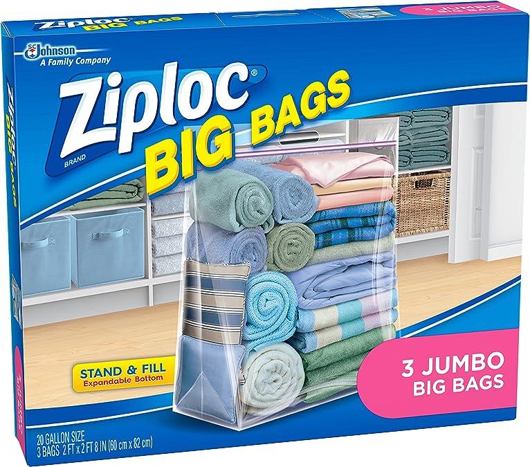 Caisse de 8 Johnson Wax 65645 Ziploc Big Bag XXL 3 Count