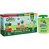 GoGo squeeZ Fruit & VeggieZ, Variety Pack (Apple Apple/Apple Banana/Apple Strawberry), 12 Pouches