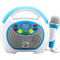 eKids KIDdesigns Mother Goose Club Bluetooth Sing Along Portable MP3 Player Real Mic 24 Songs Storesup to 16 Hours of…