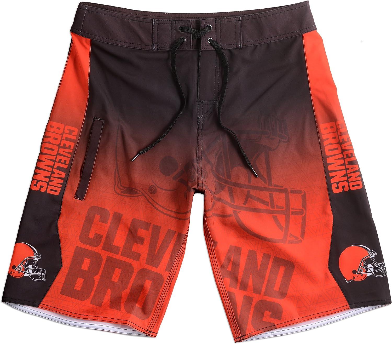KLEW NFL Cleveland Brownsグラデーションボードショーツ、スモール、オレンジ