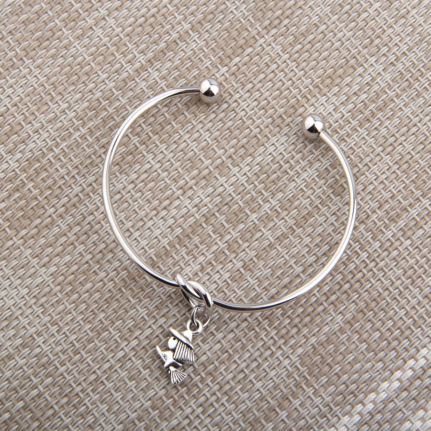 PLITI Witch Fairy Tale Charm Knot Cuff Bangle Bracelet Halloween Jewelry Gift for Her