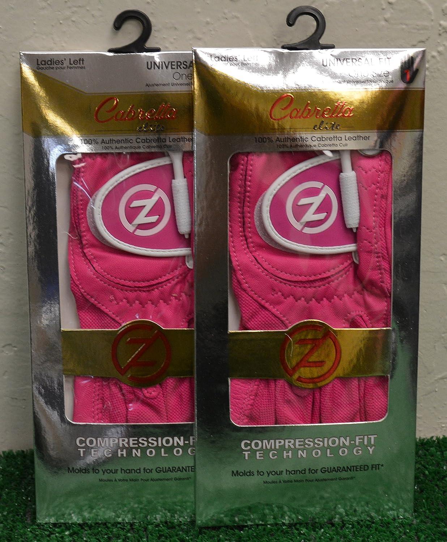 2ゼロ摩擦羊Elite Ladies ' LHゴルフ手袋 – 1つサイズ – ピンク – gl60003   B077R8ZMV4