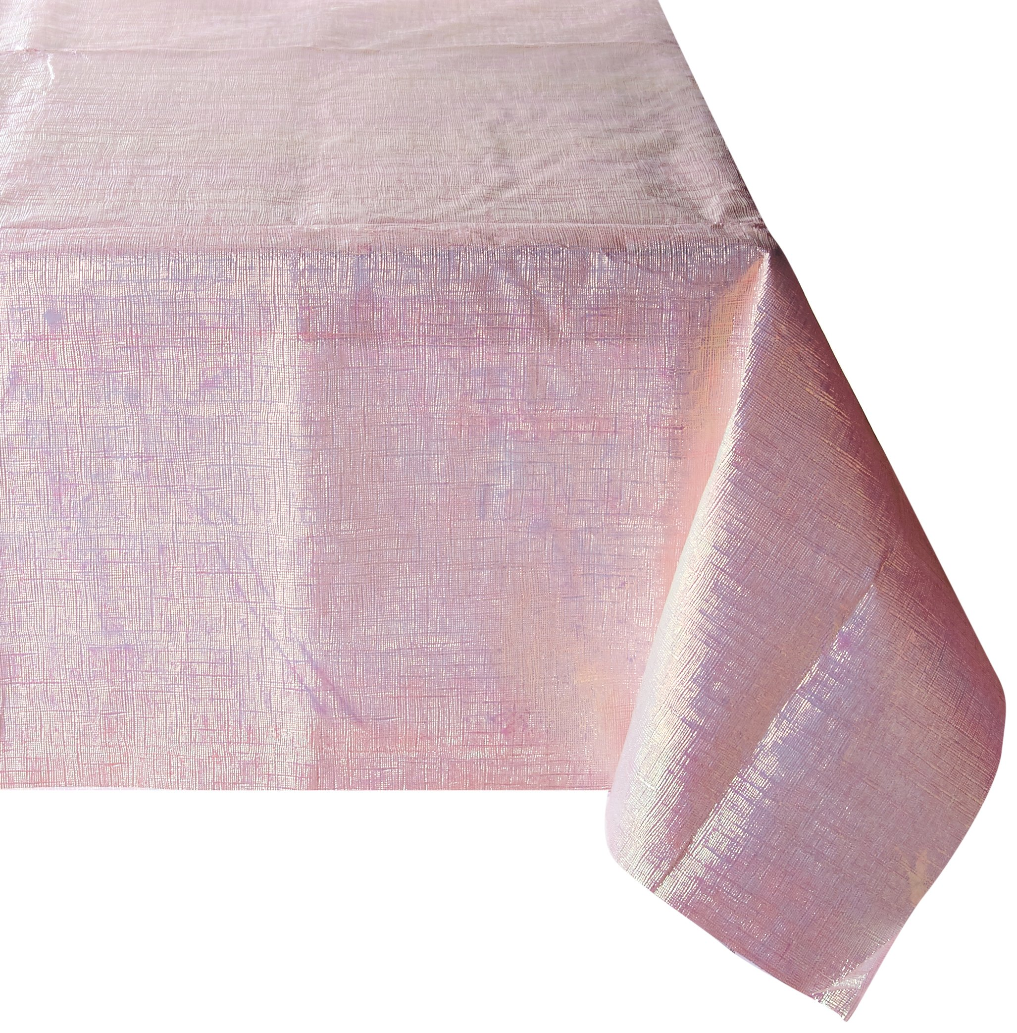 Amscan Pink Dazzler Table Cover | Wedding and Engagement Party, 6 Ct.
